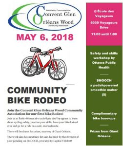 poster image for the bike rodeo, all content is in plain text below