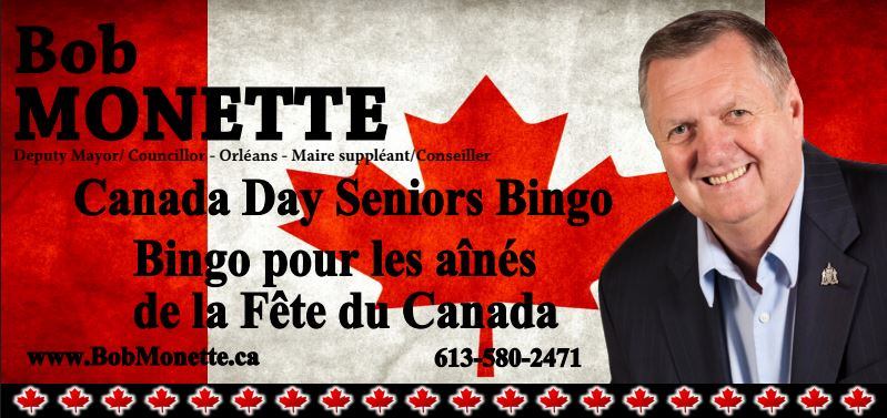 Canada Day Seniors Bingo with Bob Monette