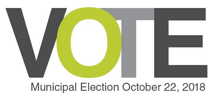 Vote Municipal Election October 22, 2018