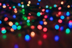blurry christmas lights image