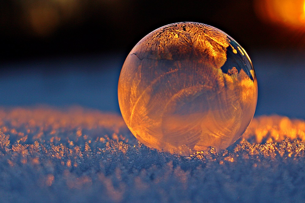 image of a ball of ice