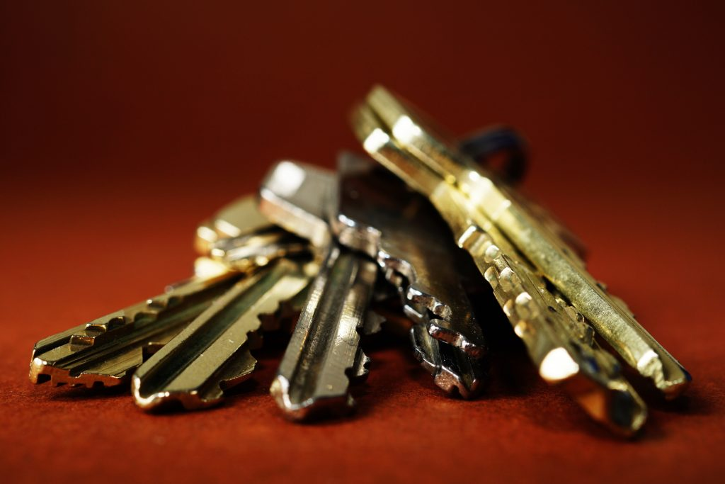 image of a set of keys lying flat