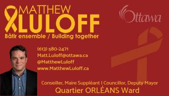 L'édition d'été du bulletin de l'ACCGOW est commanditée par le conseiller du quartier 1, Matthew Luloff.