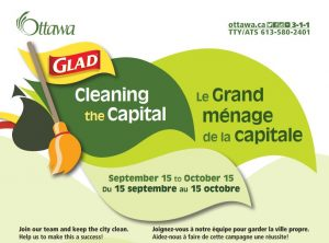 poster for Cleaning The Capital, sponsored by Glad, runs September 15 to October 15 2019
