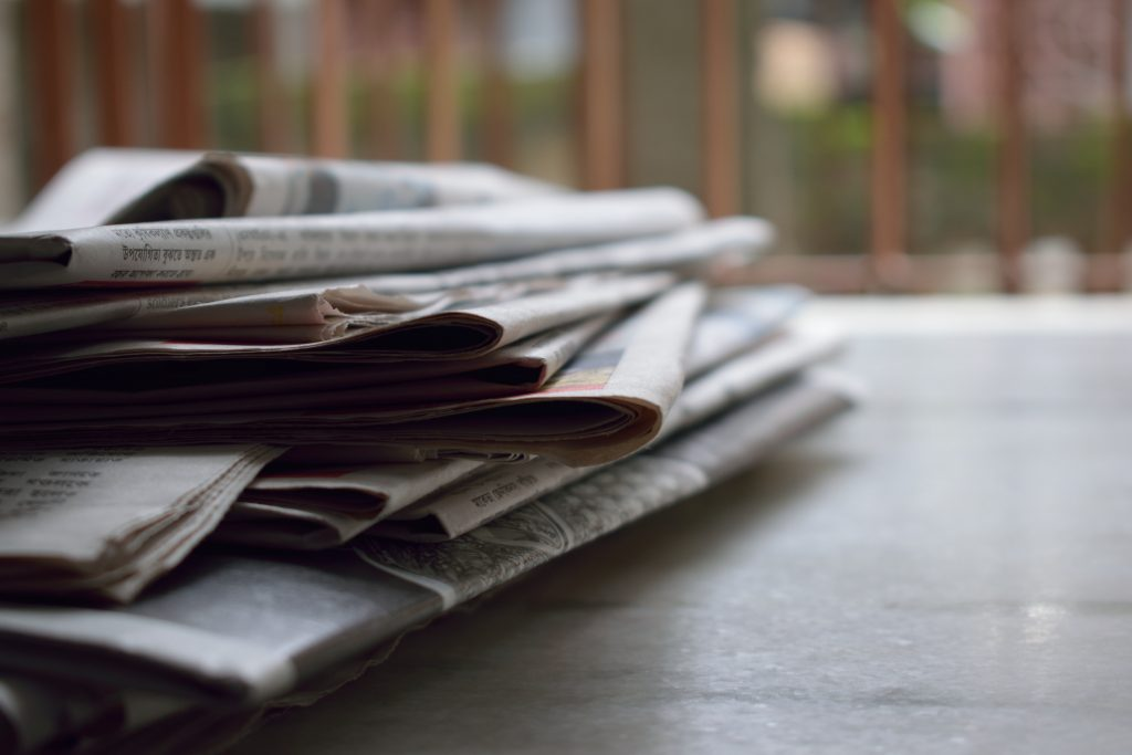 photo of a stack of newspapers