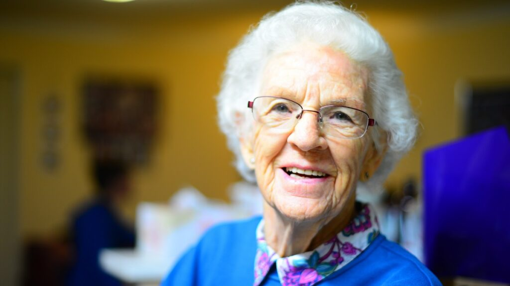image of an elderly woman smiling