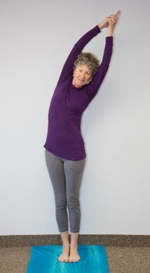 image of Sandy in Crescent Moon pose (described in article)